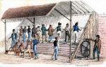 więźniowie na kole deptakowym