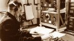 telegrafista przy pracy