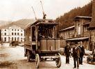 trolejbus z początku XX wieku