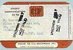 jedna z pierwszych kart kredytowych