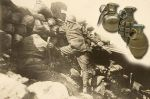 rzut granatem - 1917 rok