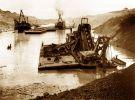 pogłębiarki przy budowie Kanału Panamskiego