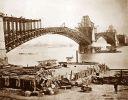 stalowy most Eads w budowie