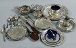 talerze i sztućce ze srebra
