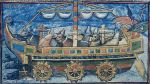 okręt wojenny napędzany kieratem