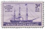 SS Savannah na znaczku pocztowym