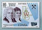 bracia Elhuyar na znaczku