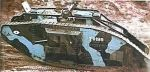 jeden z pierwszych czołgów