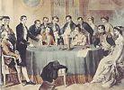 Volta demonstruje swoją baterię u Napoleona